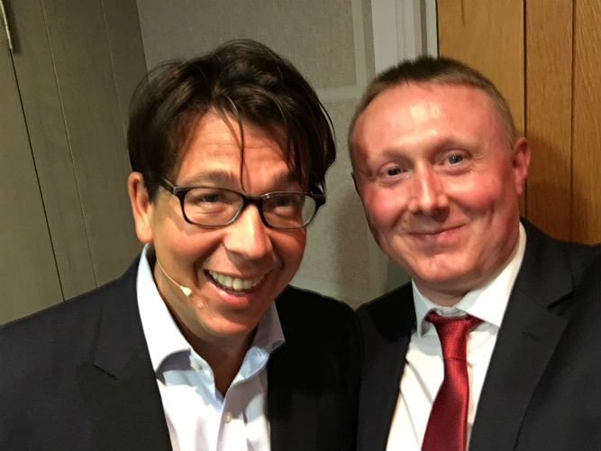 Michael Mcintyre and Darren Robinson Magician