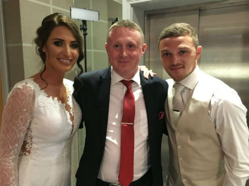 Kieran Trippier wedding with Darren Robinson Magician