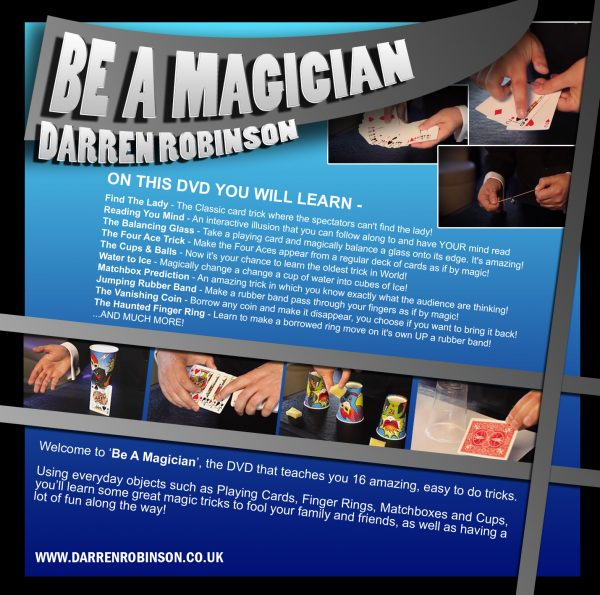 Be a magician DVD back